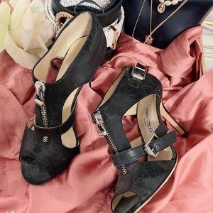 Like new leather jimmy choo heels